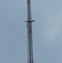 At 615' installing 2 Meter antenna in Mishawaka, IN